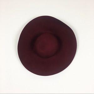 Accessories - maroon floppy hat